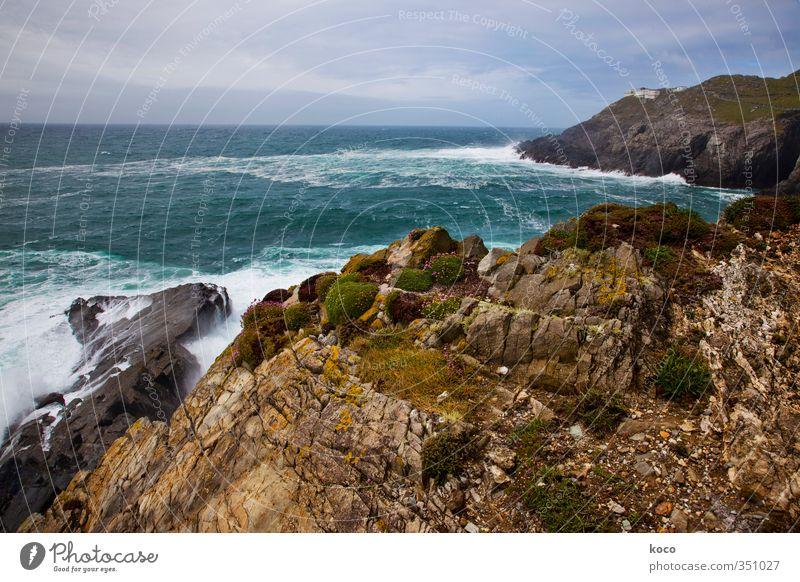 Land's End Himmel Natur blau grün Wasser Sommer Meer Landschaft Wolken Umwelt Berge u. Gebirge Gras Frühling Küste Stein Sand