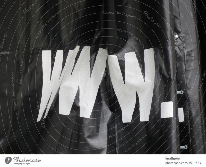 www. world wide web weltweit Internet Multimedia Großbuchstabe Abkürzung Plane Werbung Beschriftung Aufdruck Buchstaben Typographie Schriftzeichen
