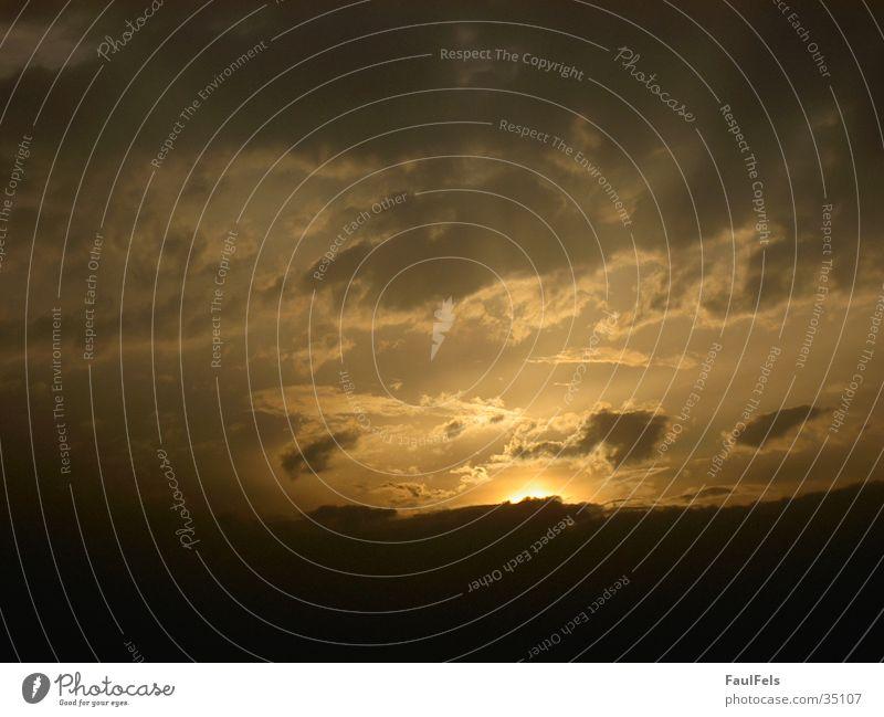 Dawn #1 Sonnenuntergang Wolken Stimmung Abend Abenddämmerung Beleuchtung