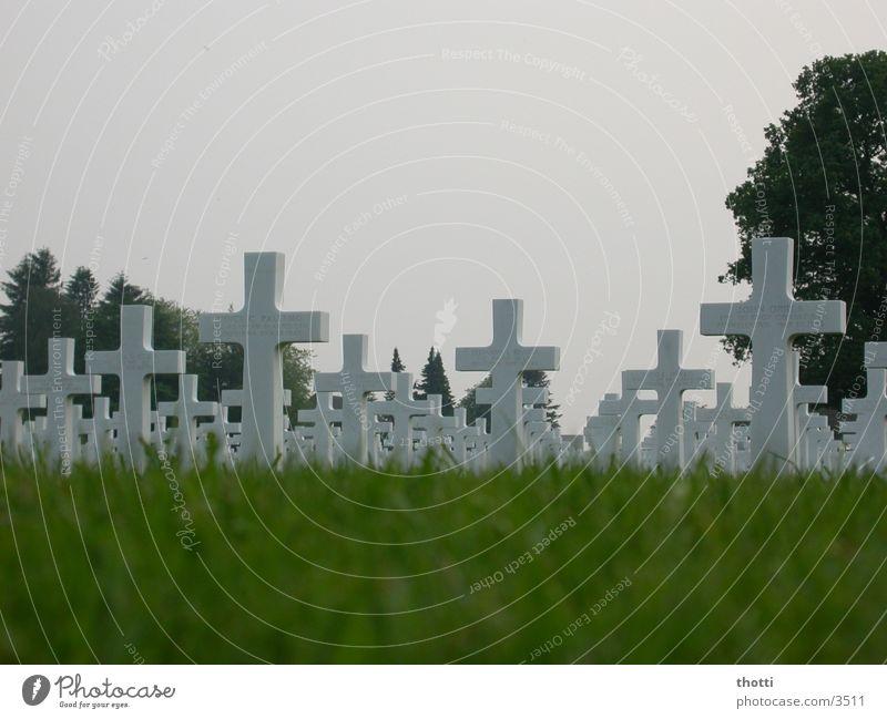 Einzelschicksal? Krieg Friedhof Grab erinnern Soldat historisch Rücken Tod