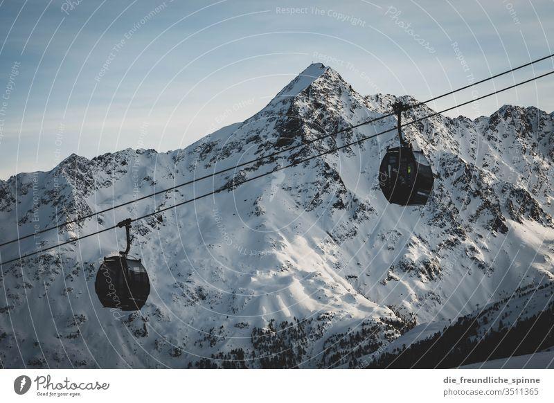 winterliche Alpen I Winter Schnee Berge Gebirge Berge u. Gebirge Himmel Landschaft Wolken blau Gipfel Felsen weiß Schneelandschaft Außenaufnahme