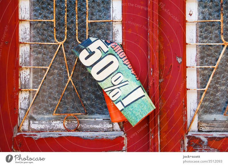 Eingang für 50% ! Zahn der Zeit Wandel & Veränderung Vergänglichkeit Verfall Symmetrie Stil einzigartig Stimmung Tür außergewöhnlich retro eckig Farbfoto