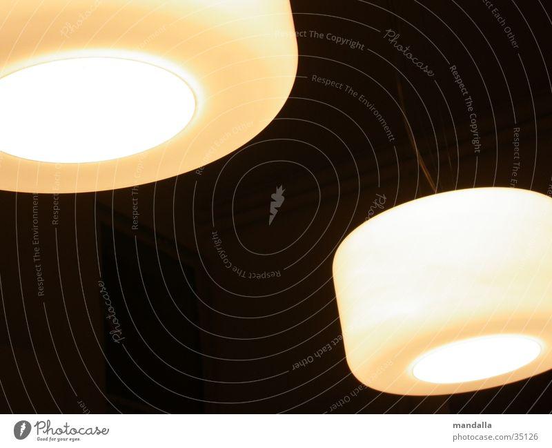 zwei lampen Licht Lampe weiß 2 Öffnung dunkel schwarz rund Häusliches Leben hell