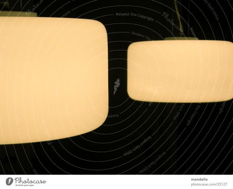noch zwei lampen Licht Lampe weiß 2 Öffnung dunkel schwarz rund Häusliches Leben hell