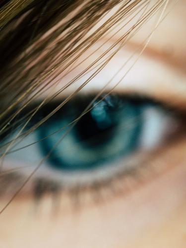 Jungenauge Auge Behaarung Kindheit Haare & Frisuren Gesicht süß blond Porträt Detailaufnahme Blick schön Farbfoto Innenaufnahme blau Haut 1