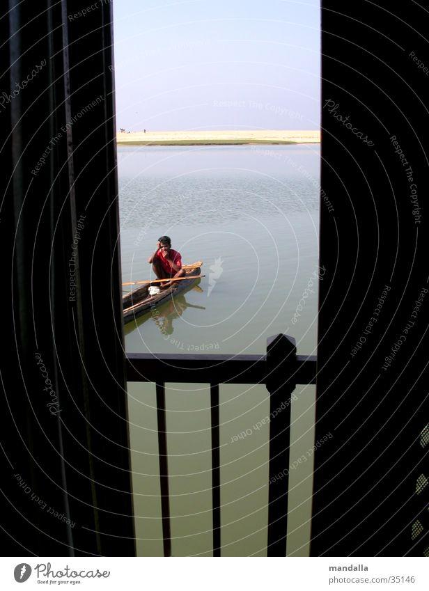 Neugier Wasser Fenster Wasserfahrzeug Fluss Aussicht Spalte Öffnung Inder Los Angeles