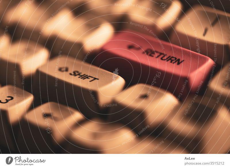 Nahaufnahme der Tastatur Keyboard Computer Taste Business Technik & Technologie Internet Schlüssel betreten Schaltfläche Büro Arbeit Knöpfe Typ Mitteilung pc
