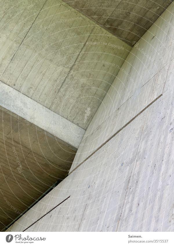 Betonkunst Autobahnbrücke Brücke Mauer Fassade Linien und Formen geometrisch Strukturen & Formen Wand Muster Architektur Stein Bauwerk Außenaufnahme