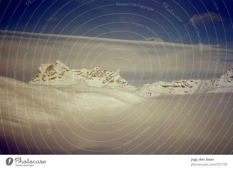 Alpenpanorama 2 Himmel Baum Wolken Schnee Berge u. Gebirge Tal