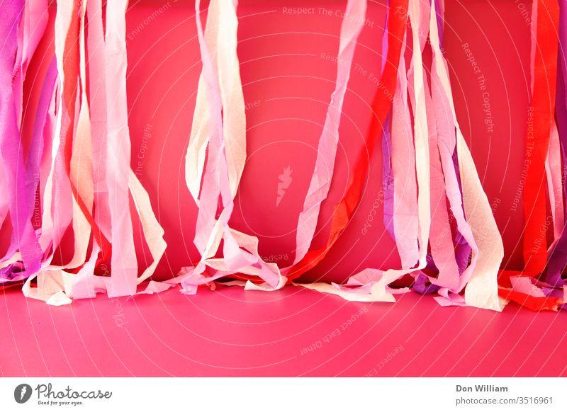 Rosa Party-Dekoration rosa Dekoration & Verzierung Hintergrund farbenfroh Requisiten Ästhetik abstrakt Farbe hell Feste & Feiern rosa Hintergrund Farbfoto