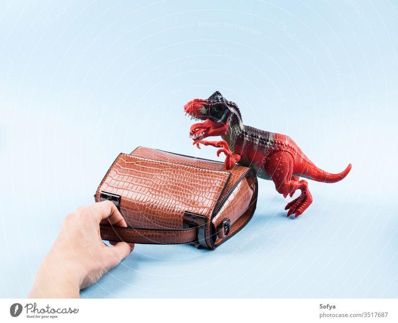 Wütendes Dinosaurierspielzeug und Damenhandtasche Mode Frau kaufen Sale Reptil Accessoire Handtasche Tasche Umhängetasche klein Begierde Laden wütend Wahnsinn