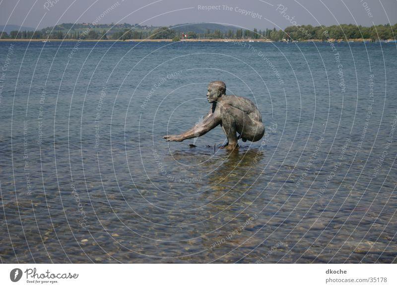 Bodensee Mann Wasser Statue Bronze Radolfzell