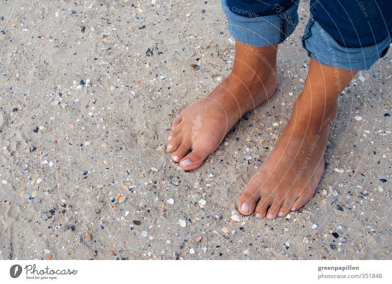 Fußpeeling Mensch Ferien & Urlaub & Reisen Sommer Meer Erholung Strand Leben Freiheit Schwimmen & Baden Sand Beine Tourismus Insel Wellness sportlich