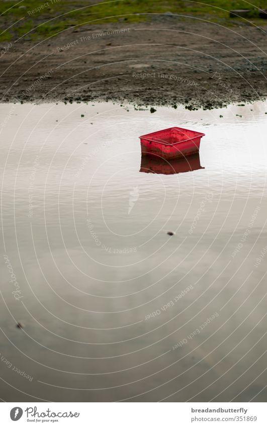 Ich hab ein knallrotes Gummi...äh... wie auch immer Wasser rot ruhig Schwimmen & Baden nass Urelemente Kunststoff Kasten Pfütze schlechtes Wetter