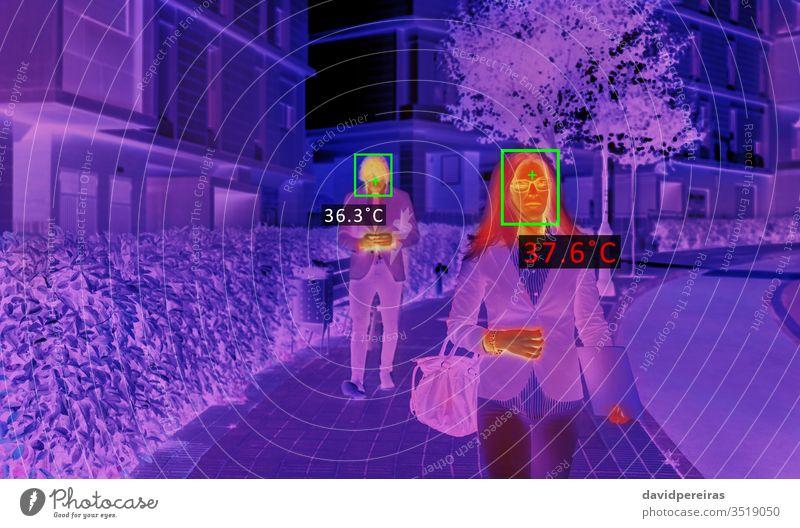 Wärmeschirm-Scanner zur Überprüfung der Personentemperatur thermisch Abtastung Infrarotaufnahme Temperatur Fieber Coronavirus covid-19 prüfen Infektion Virus