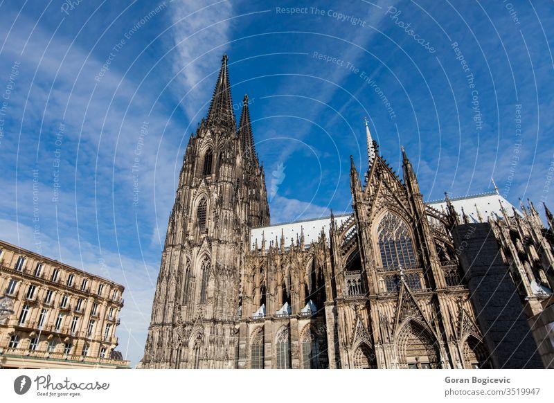 Kölner Dom Europa Deutschland Architektur Kirche Kathedrale Religion gotisch Historie Turm reisen berühmt Wahrzeichen katholisch dom Europäer christian Gebäude