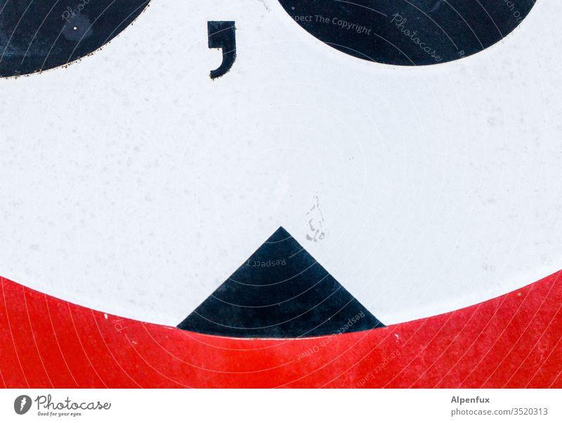 Punkt-Punkt-Komma-Dreieck Verkehrszeichen Außenaufnahme Straße Verkehrsschild Hinweisschild Farbfoto Warnschild Schilder & Markierungen Zeichen Straßenverkehr