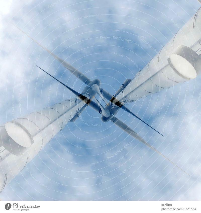 Doppelt belichtet hält besser I Windrad Windenergie Windkraftanlage Energiewirtschaft Erneuerbare Energie Umwelt Technik & Technologie ökologisch Elektrizität