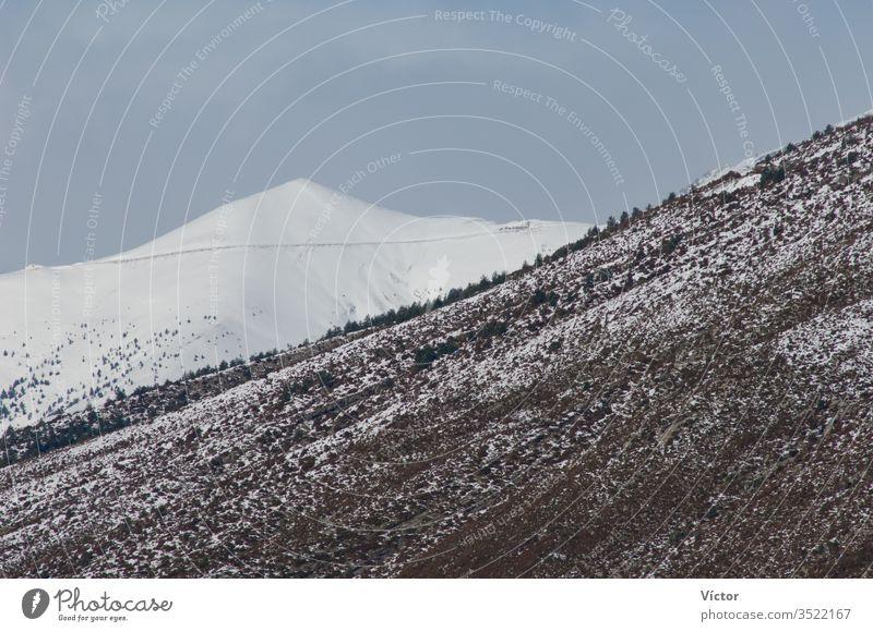 Acuta-Spitze. Pyrenäen. Huesca. Aragonien. Spanien. aragonisch kalt Farbe Farben hoch Landschaft Landschaften Reittier Berge u. Gebirge Halterungen natürlich
