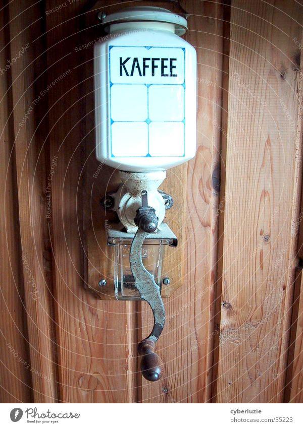 Die gute alte Zeit Holz Kaffee Geschirr Kaffeemühle