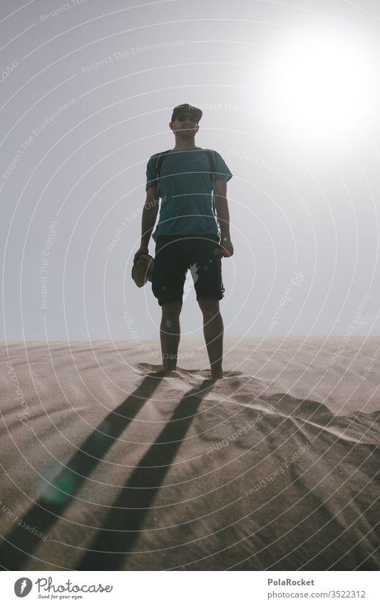 #AS# Verloren in der Dünne Sand Sandstrand Wüste wüstenlandschaft Farbfoto Außenaufnahme wüstensand Ferien & Urlaub & Reisen Landschaft Natur Sandkasten