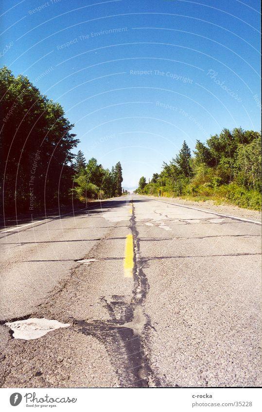 Maut Strasse Himmel Ferne Straße Verkehr Asphalt Unendlichkeit Amerika Loch