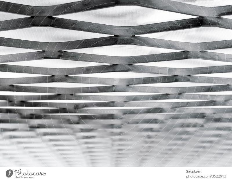 Nahaufnahme von Stahlblech mit expandiertem Auspuff, Stahlgitterkonstruktion Metall erweitern erweitert Textur Gitter Design Muster Hintergrund Industrie rau