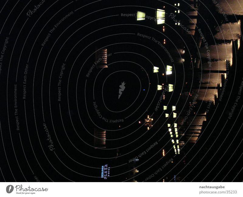 Barcelona by night Nacht Licht Laterne Architektur Burg oder Schloss Straße