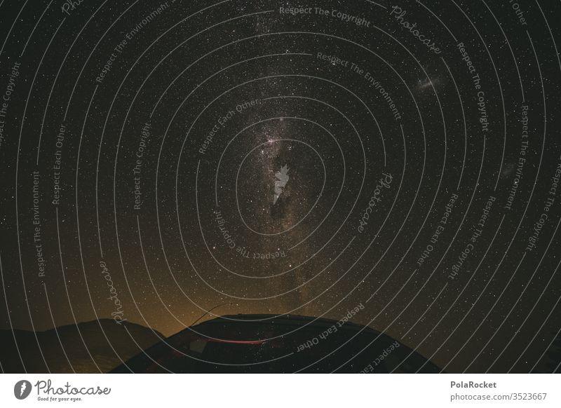 #As# Milky Car Milchstrasse Sternenhimmel Stern (Symbol) Sternbild sternenklar Sternenhaufen Sternenzelt Nacht Langzeitbelichtung Außenaufnahme Astronomie