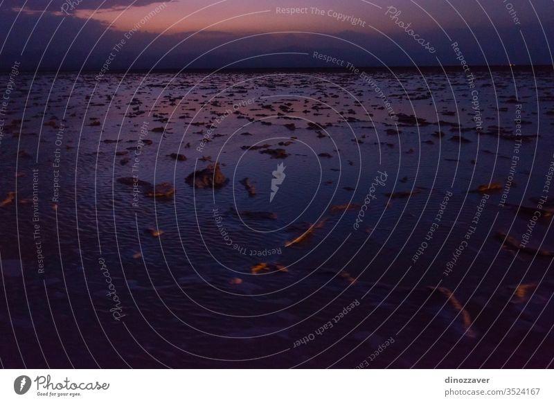 Salzebenen in der Danakil-Wüste bei Nacht, Äthiopien Natur Sand heiß See Wasser reisen Himmel Afrika trocknen wüst national Landschaft Dallol erta ale Vulkan