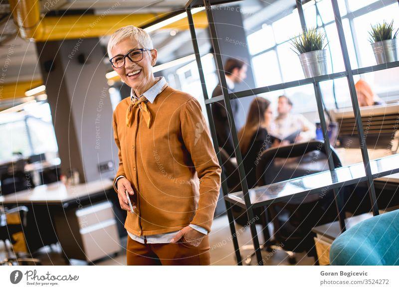 Leitende Geschäftsfrau im Amt stehend Business Geschäftsmann Karriere Kaukasier Hauptgeschäftsführer korporativ elegant Mitarbeiter Unternehmer Exekutive Brille