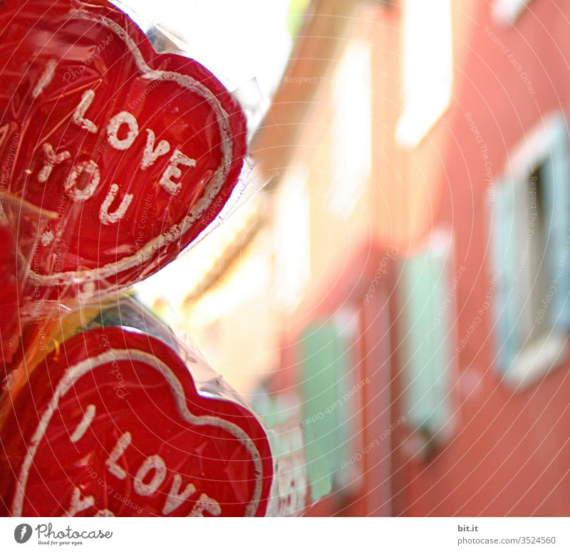 Für HELGI & INI Liebe Herz rot love bunt Schriftzeichen Buchstaben verliebt Geschenk Gefühle Valentinstag Feste & Feiern Dekoration & Verzierung