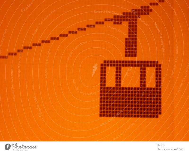 Seilbahn Berge u. Gebirge orange Handy Bildschirm Symbole & Metaphern Anzeige Logo Ikon Seilbahn
