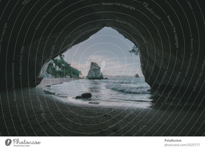 #As# Durchblick Neuseeland Neuseeland Landschaft Cathedral Cove Küste Natur Naturschutzgebiet Naturliebe Naturerlebnis Meer Ozean Wellen