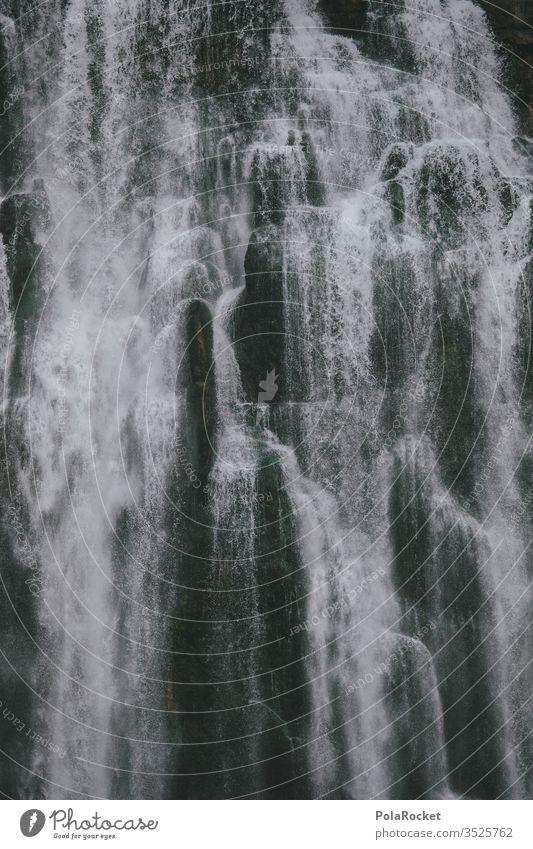 #As# Wasser am Fallen Wasserfall Wassertropfen Neuseeland tropisch Natur Außenaufnahme Farbfoto Umwelt Felsen Menschenleer Landschaft Tag Fluss Berge u. Gebirge