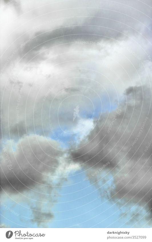 Abstrakt farbiger Wolken Himmel Dämmerung Abend Außenaufnahme Kreativität schlechtes Wetter nur Himmel Meteorologie Umwelt Luft Wasser Luftraum Klimawandel