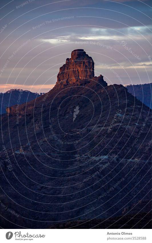 DER ROQUE der roque Berge u. Gebirge Natur Himmel Urlaub Kanaren Landschaft isalnd las palmas Las Palmas de Gran Canaria Ferien & Urlaub & Reisen Urlaubsort