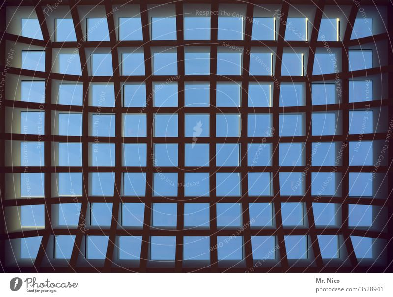 Fenster Fenster Fenster Oberlicht Architektur Dachfenster Strukturen & Formen oben Metall Glas Flutlicht hell Detailaufnahme Gebäude Himmel Atelier Licht