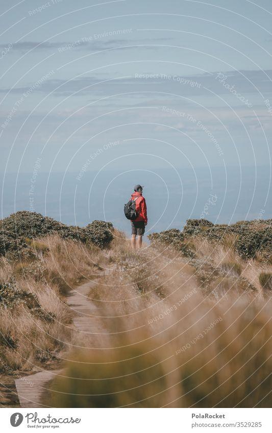 #AS# Wandersmann Ferien & Urlaub & Reisen Wolken Farbfoto Natur Umwelt Himmel Fernweh Landschaft Außenaufnahme Sehenswürdigkeit Gipfel blau Spiegelung