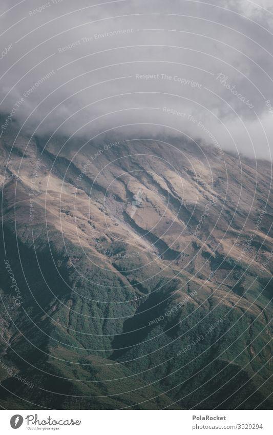 #As# BergGrau Berge u. Gebirge Berghang mount taranaki Neuseeland Neuseeland Landschaft Wolken Außenaufnahme Natur Gipfel Farbfoto Umwelt Himmel Menschenleer