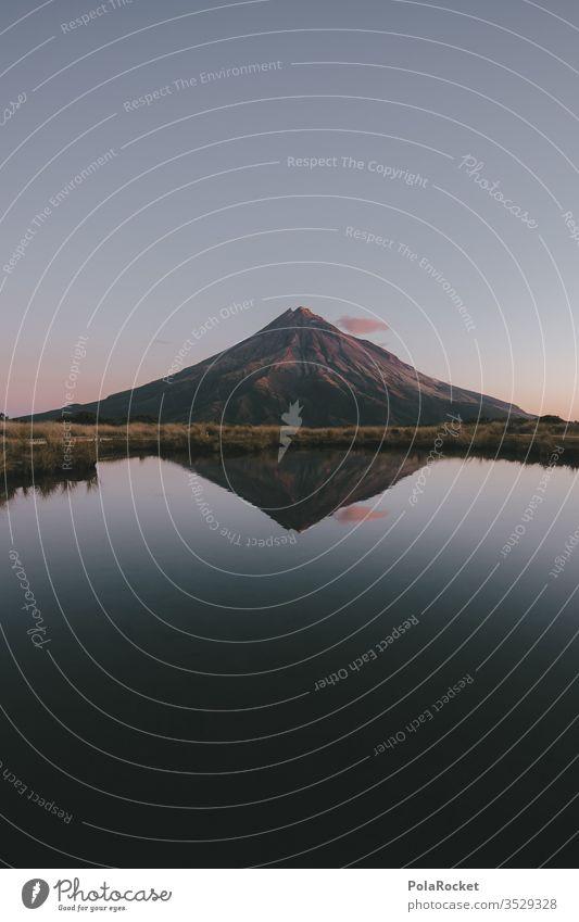 #As# An der Spitze ist's ruhig Berge u. Gebirge Berghang Bergkamm Gipfel gipfelstürmer Neuseeland Neuseeland Landschaft Himmel himmelblau himmelwärts Abend