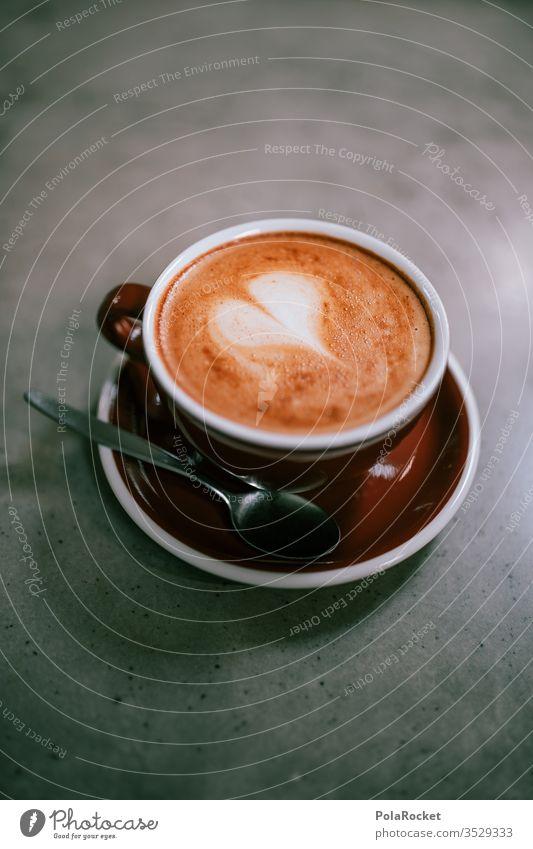 #AS# Ein Herz für Kaffee Tasse Kaffeetasse Kaffeetrinken Kaffeepause Heißgetränk lecker Latteart Barista Kaffeetisch Detailaufnahme Morgenmuffel