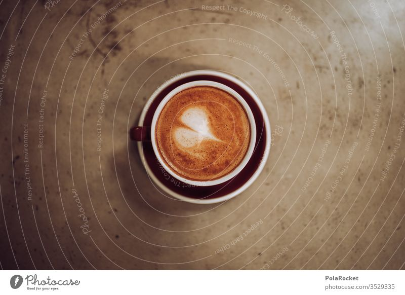 #AS# Ein Herz für Kaffee Morgenmuffel Detailaufnahme Kaffeetisch Barista Latteart lecker Heißgetränk Kaffeepause Kaffeetrinken Kaffeetasse Tasse Frühstück Café