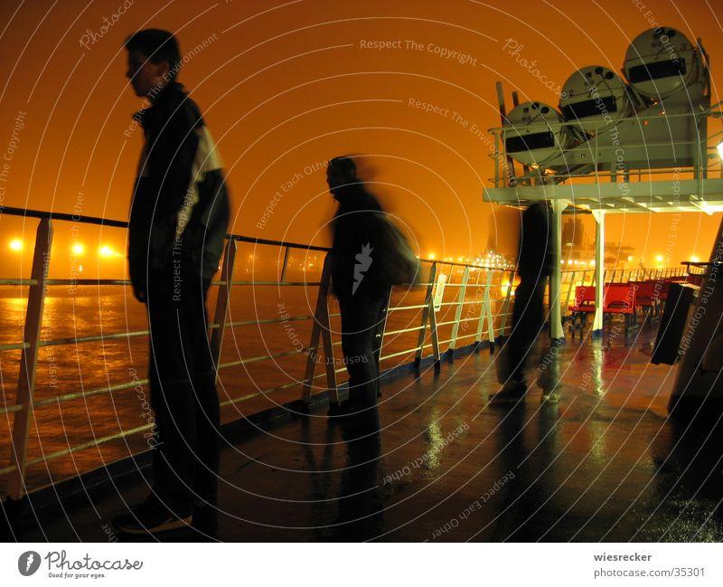 Ärmelkanalüberfahrt Nacht Ferne Meer Küste Licht Wasserfahrzeug Fähre Schifffahrt Hafen Mensch Aussicht Hafenbeleuchtung