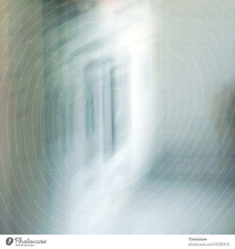 Traumsequenz Unschärfe hell Küche Schatten Licht Linien Kanten Bewusstseinsstörung undeutlich Menschenleer Bewegungsunschärfe Traumbild