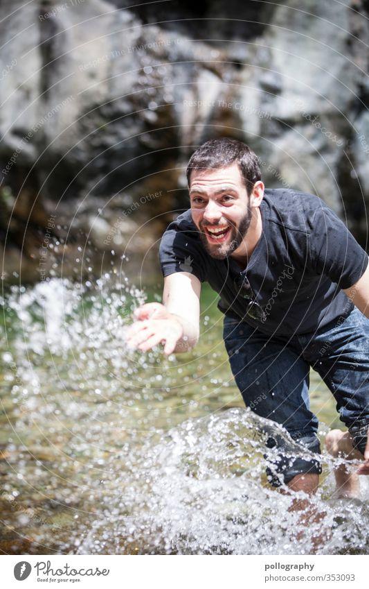 hot summer day 2 Mensch Natur Mann Jugendliche Wasser Landschaft Freude Erwachsene Junger Mann Wärme Leben Gefühle 18-30 Jahre Spielen Glück maskulin