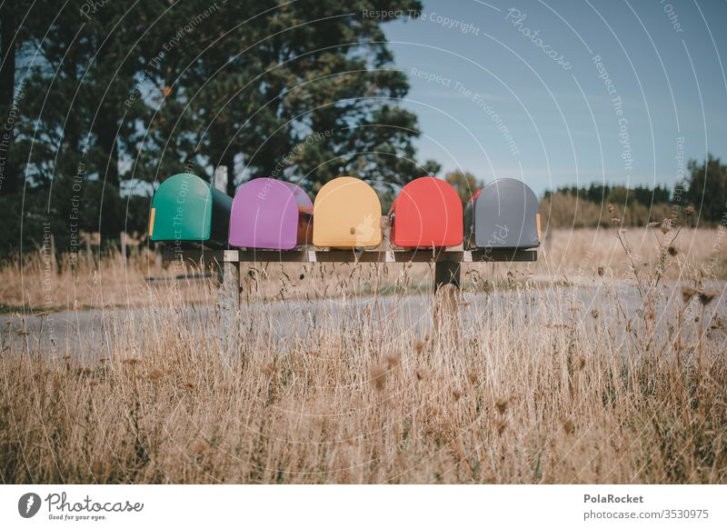 #AS# Briefkastenfirma? briefkastenfirma Briefkastenanlage Neuseeland Neuseeland Landschaft Farbfoto farbenfroh Postkarte Postfach