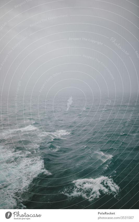 #AS# Land in Sicht?! Meer ocean Wellen zuversicht hoffung Verzweiflung weite Schifffahrt blau Nebel Wasser leer ästhetisch Freiheit Einfachheit