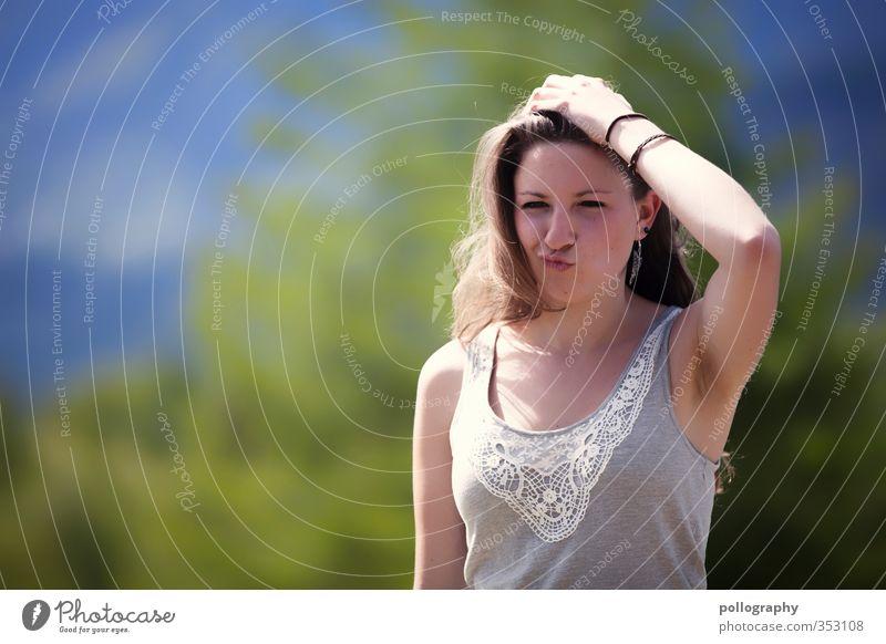 einmal duckface bitte! Mensch Frau Natur Jugendliche schön Sommer Pflanze Baum Landschaft Junge Frau Wald Erwachsene Wärme Leben feminin 18-30 Jahre