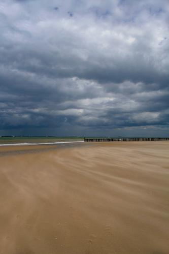 Vlissingen Natur Meer Strand Küste Sand Wellen Wind Kraft Abenteuer Nordsee Sturm dramatisch schlechtes Wetter Niederlande Buhne Gewitterwolken
